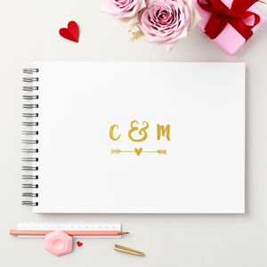 Personalised Couple's Initials Memory Book - guest books