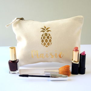 Personalised Pineapple Make Up Bag - make-up & wash bags
