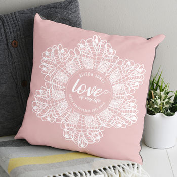 Personalised Doily Supersoft Cushion