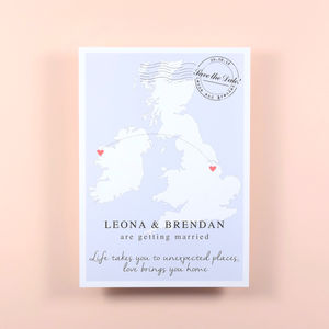 Single Country Map Wedding Save The Date - invitations