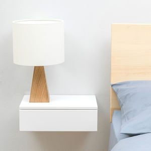 Floating Beech Bedside Drawer - laundry room
