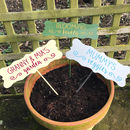 Personalised Garden Plant Markers