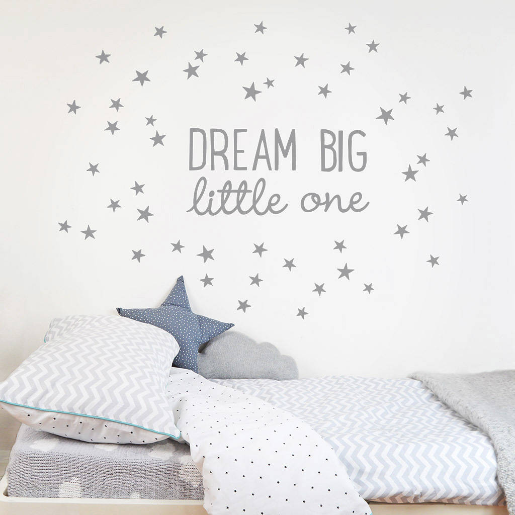 Dream Big Little One Wall Sticker   Childrenu0027s Room Accessories Part 80