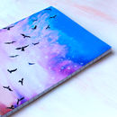 Celestial Flight Thicker A5 Notebook With Lined Pages