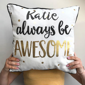 Personalised Awesome Cushion - children's room