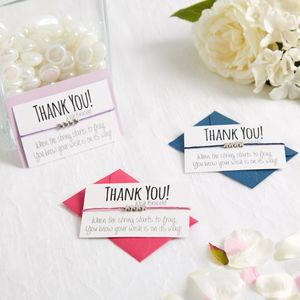 Thank You Handmade Wish Bracelet - thank you cards