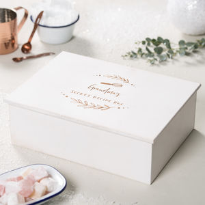 Personalised Wooden Recipe Box