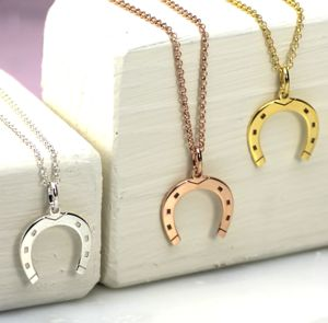Lucky Silver Or Gold Horseshoe Necklace