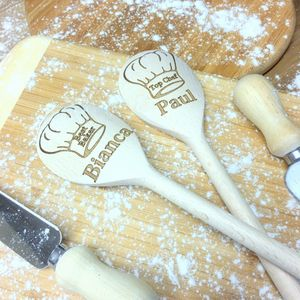 Baker's Hat Personalised Wooden Spoon - kitchen