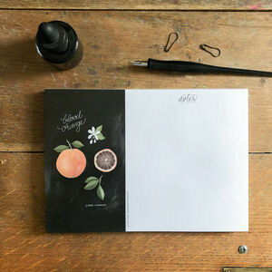 Botanical 'Blood Orange' Fruit A5 Notepad
