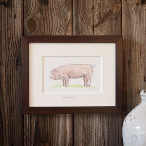 Limited Edition Pig Print. Welsh