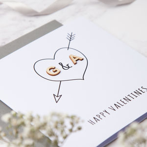 Personalised Initial Love Heart Card - engagement cards