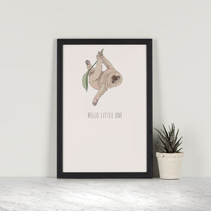 Hello Little One – Two Toed Sloth - drawings & illustrations