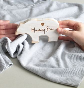 Mummy Bear Personalised Wooden Bear Keepsake