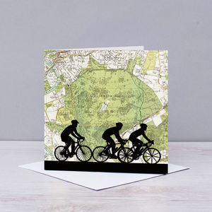 Cycling Card With Richmond Park Map - all purpose cards