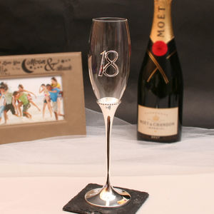 Engraved 18th Birthday Champagne Glass