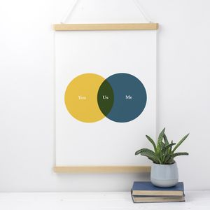 Personalised Venn Diagram Love Print