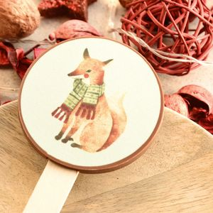 Christmas Fox Chocolate Lolly