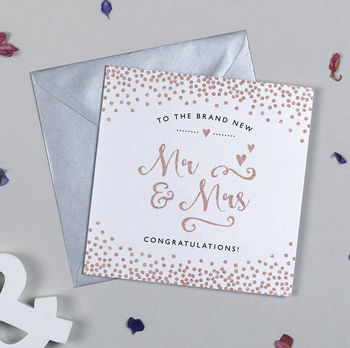 Glitter And Sparkle Mr And Mrs Card