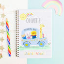Personalised Children's School Notebook 'School bus'