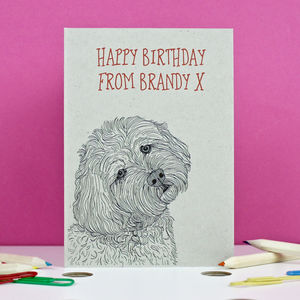 Cockapoo Birthday Card - birthday cards