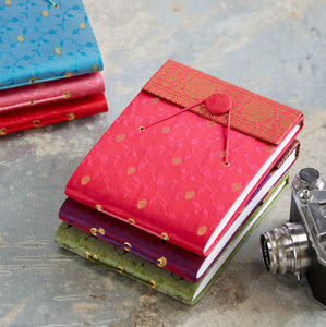 Handmade Small Sari Photo Album - albums & guest books