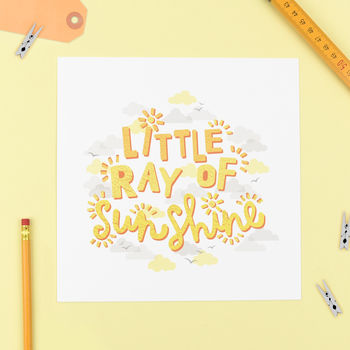 'Little Ray Of Sunshine' Print