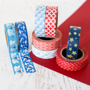 Red, White And Blue Washi Tape - decorative tape & washi tape