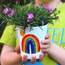 Rainbow Child's Personalised Plant Pot With Seeds