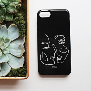 Abstract Line Art Black Personalised Phone Case