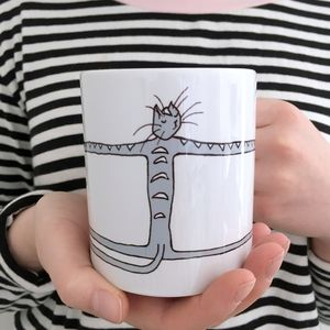 'Cat Hug' Cat Lover's Cat Mug - mugs