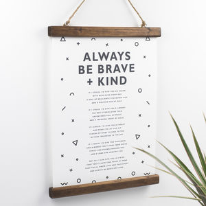 Nursery Poem Print For A Christening - posters & prints