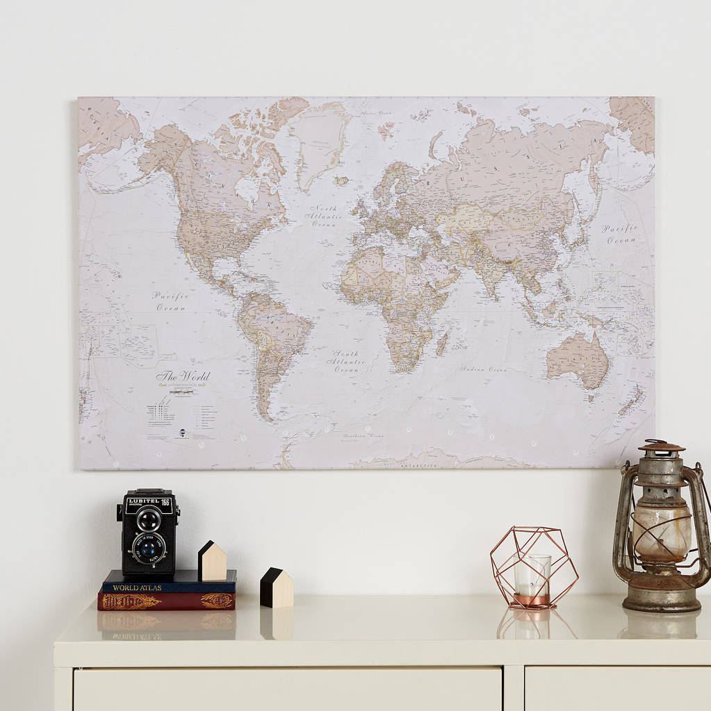 canvas antique map of the world by maps international ...
