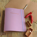 Recycled Leather Favourite Recipes Ring Binder