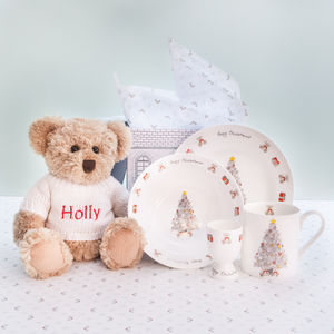 Bertie Bear's Christmas Morning Breakfast Set - children's tableware