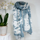 'Imlil Denim' Luxury Large Scarf Wrap