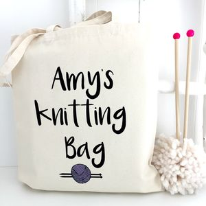Personalised Knitting Bag - creative kits & experiences