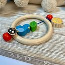 Blue Bird Ring Rattle