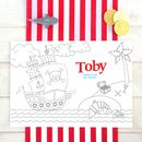 Pirate Personalised Party Colour Me In Place Mats