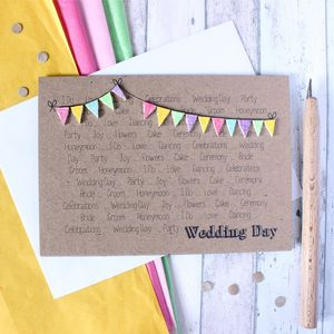 Personalised Wedding Day Congratulations Card - wedding cards & wrap