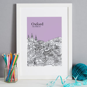 Personalised Oxford Print - drawings & illustrations