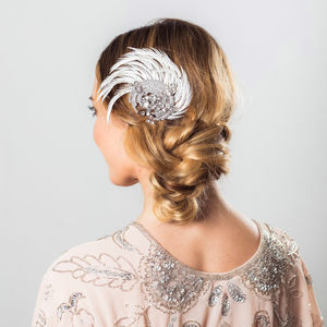 Adore Feather And Crystal Hairpiece