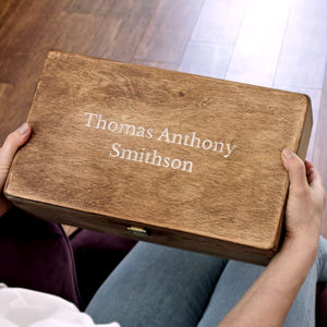 Carved Name Personalised Keepsake Box