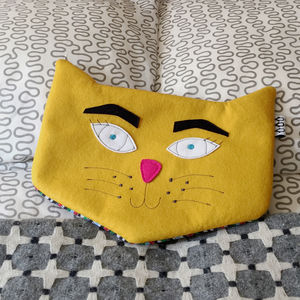 Kitt The Cat Hot Water Bottle - hot water bottles & covers