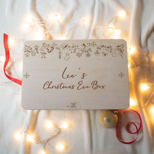 Personalised Christmas Eve Box Hanging Decorations