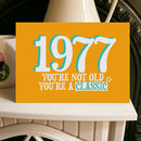 Birthday Year Card Classic 1970s