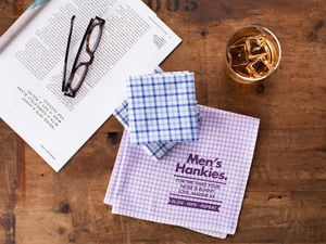 Mens Personalised Message Handkerchiefs - handkerchiefs