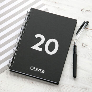 Personalised Modern Weekly Diary