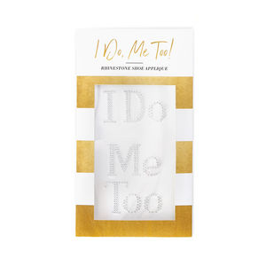 'Mr And Mrs' Rhinestone I Do Shoe Stickers - wedding stationery