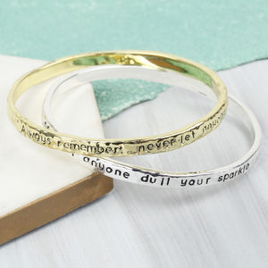 'Always Remember' Meaningful Words Bangle - summer sale